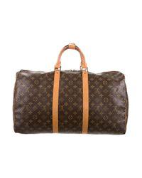 Louis Vuitton - Natural Monogram Keepall 50 Brown for Men - Lyst