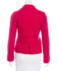 Marc Jacobs - Red Bouclé Wool Blazer - Lyst