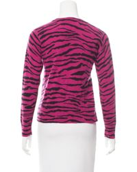 Marc Jacobs | Pink Animal Pattern Sweater | Lyst