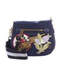 Marc Jacobs | Metallic Small Patchwork Nomad Bag Navy | Lyst