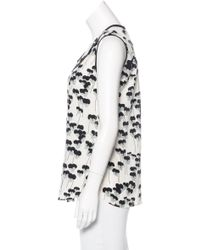 Marc Jacobs - White Printed Silk Top W/ Tags - Lyst