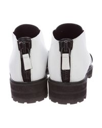 Proenza Schouler - White Leather Crossover Booties - Lyst