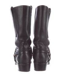 Proenza Schouler - Metallic Harness Leather Boots Black - Lyst