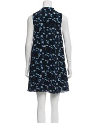 Proenza Schouler - Blue Pattern Printed Mini Dress - Lyst
