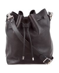 Proenza Schouler | Metallic Medium Bucket Bag Black | Lyst