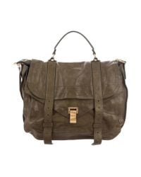 Proenza Schouler - Green Leather Ps1 Satchel for Men - Lyst