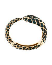 Roberto Cavalli - Metallic Snake Cuff Bracelet Gold - Lyst