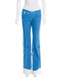 Roberto Cavalli - Blue Mid-rise Wide-leg Jeans W/ Tags - Lyst