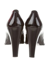 Roger Vivier - Metallic Patent Leather Buckle Pumps Black - Lyst