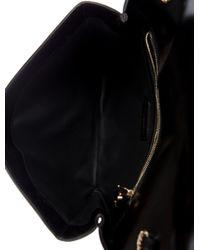 Roger Vivier - Metallic Leather Flap Bag Black - Lyst