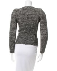 Étoile Isabel Marant - Gray Tweed Lightweight Jacket Grey - Lyst