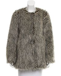 Marc By Marc Jacobs | Brown Marc By Jacobs Long Sleeve Faux Fur Jacket | Lyst