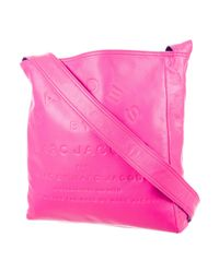 Marc By Marc Jacobs | Pink Marc By Jacobs Embossed Leather Shoulder Bag | Lyst