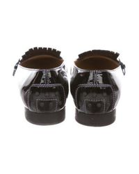 Tod's - Black Kiltie Patent Loafers - Lyst