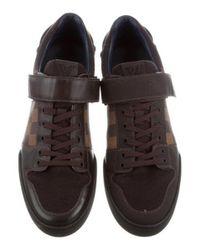Louis Vuitton - Brown Elliptic Damier-paneled Sneakers for Men - Lyst