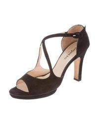 Repetto - Black Platform Suede Sandals - Lyst