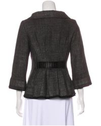 Alberta Ferretti - Gray Coated Wool Jacket Grey - Lyst