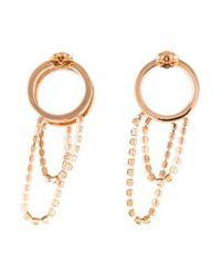 Maison Margiela - Metallic Crystal Front-back Earrings Brass - Lyst