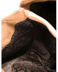 Roger Vivier - Metallic Suede Shearling-trimmed Bag Gold - Lyst