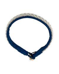 Maria Rudman - Metallic Horn & Leather Bracelet Silver - Lyst