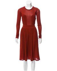 Sophia Kokosalaki - Red Silk Midi Dress W/ Tags Orange - Lyst