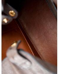 Loro Piana - Metallic Ostrich Globe Bag Grey - Lyst