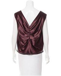 Ports 1961 - Purple Silk Sleeveless Top - Lyst