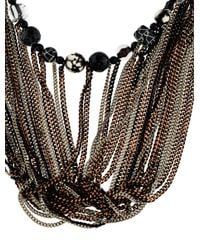Jean Paul Gaultier - Metallic Dyed Agate, Glass & Resin Bead Multistrand Necklace Silver - Lyst
