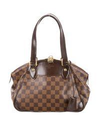 Louis Vuitton   Natural Damier Ebene Verona Pm Brown   Lyst