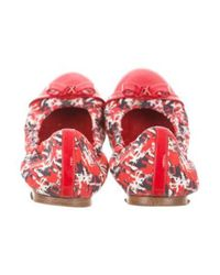 Louis Vuitton - Red Cap-toe Ballet Flats - Lyst