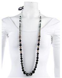 Erickson Beamon - Metallic Crystal Bead Necklace Gold - Lyst