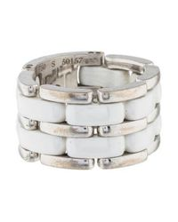Chanel - Metallic 18k Ultra Ring White - Lyst