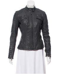 MICHAEL Michael Kors - Gray Michael Kors Leather Moto Jacket Grey - Lyst