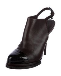 Alexander Wang - Brown Leather Cap-toe Booties - Lyst