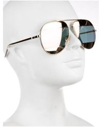 Dior - Metallic Split 2 Sunglasses Rose - Lyst