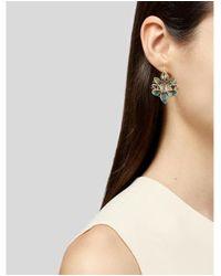 Alexis Bittar - Metallic Chrysocolla, Pyrite & Crystal Drop Earrings Gold - Lyst