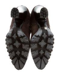 Miu Miu - Brown Miu Suede Knee-high Boots - Lyst