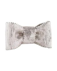 Kate Spade - Metallic All Wrapped Up Statement Ring Silver - Lyst