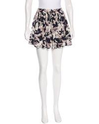 Chanel - Black Airplane Print Silk Skirt - Lyst