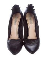 Marc Jacobs - Black Stud Embellished Leather Pumps - Lyst