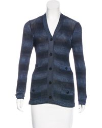 Chanel - Metallic Striped Cardigan - Lyst