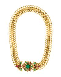 Chanel | Metallic Vintage Gripoix Necklace Gold | Lyst