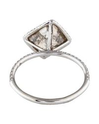 Diamond In The Rough - Metallic 5.54ct Covet Engagement Ring White - Lyst