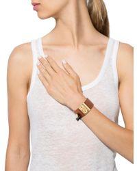 Louis Vuitton - Metallic Lock Me Nomade Cuff Bracelet Gold - Lyst