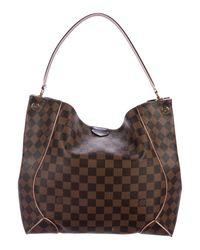 Lyst - Louis Vuitton Damier Ebene Caïssa Hobo Brown in Natural 8a70eb03fb2d2