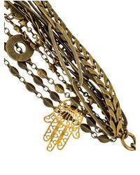 Isabel Marant - Metallic Multistrand Bracelet Brass - Lyst