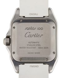 Cartier - Metallic Santos 100 White - Lyst