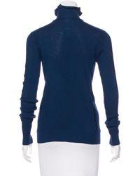 Chanel - Blue Wool Turtleneck Sweater - Lyst