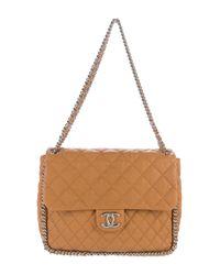 Chanel   Metallic Chain Around Maxi Flap Bag Silver   Lyst