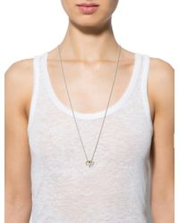 Alexis Bittar - Metallic Ram's Head Slide Pendant Necklace Gold - Lyst